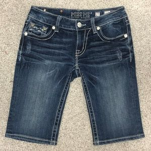Miss Me Denim Bermuda Shorts